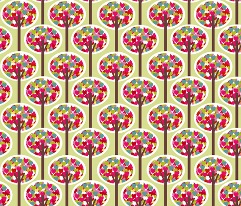 Love Trees fabric by natitys on Spoonflower - custom fabric
