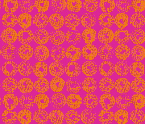 Backlit Dots_Fuchsia fabric by garimadhawan on Spoonflower - custom fabric