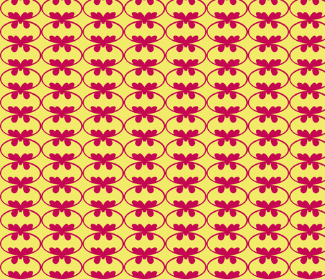 Batman Pink/yellow fabric by plumcuckoo on Spoonflower - custom fabric
