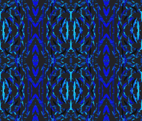 Colors of a Blue Jay in Mirror Repeat fabric by anniedeb on Spoonflower - custom fabric