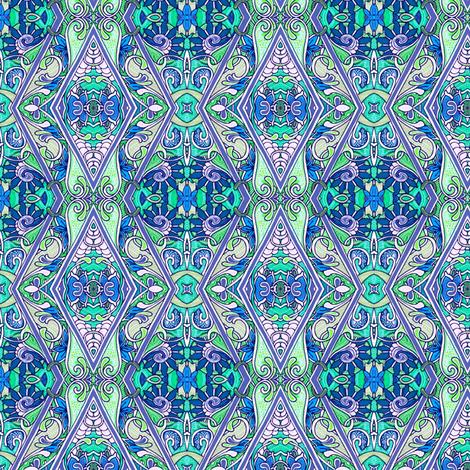 Modernized Colonial Zig Zag Vertical Stripe fabric by edsel2084 on Spoonflower - custom fabric