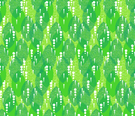Moss Garden Leaves fabric by siya on Spoonflower - custom fabric