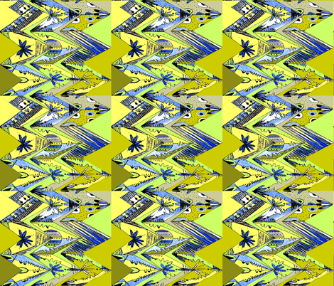 zig zag lime fabric by abstracthands on Spoonflower - custom fabric