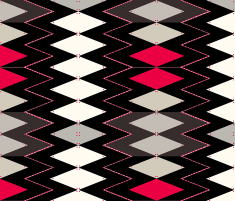 pink dot zag fabric by abstracthands on Spoonflower - custom fabric