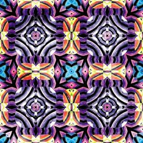 Flowery Incan Mosaics In Watercolors 7