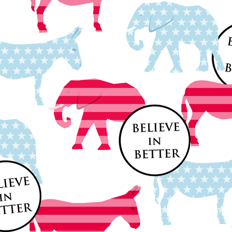 Believe in Better! fabric by lusyspoon on Spoonflower - custom fabric