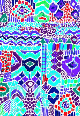 Indian summer IKAT purple