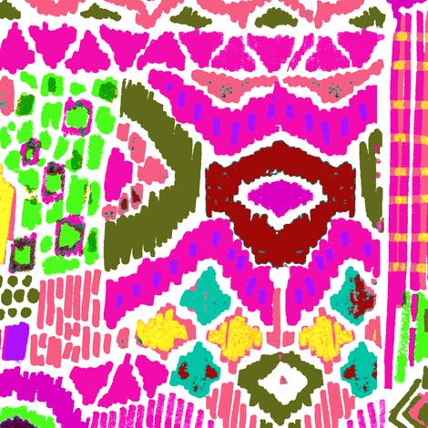 indian summer ikat  fabric by katarina on Spoonflower - custom fabric