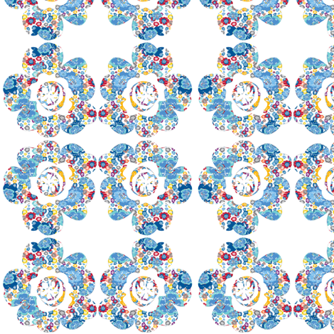 FRENCH_SCRIPT_BOUQUET_FLOWER fabric by karenharveycox on Spoonflower - custom fabric