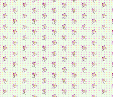 Campanula-pattern_ fabric by koalalady on Spoonflower - custom fabric