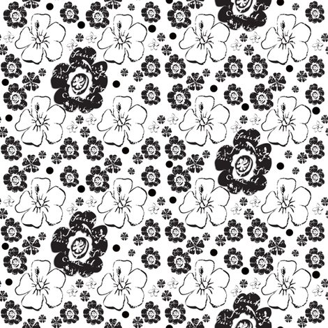 black_and_white_with_dots fabric by karenharveycox on Spoonflower - custom fabric