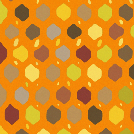 fall felted lattice fabric by scrummy on Spoonflower - custom fabric