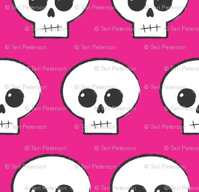 Hot Pink Skully