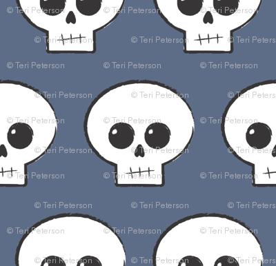 Slate Blue Skully