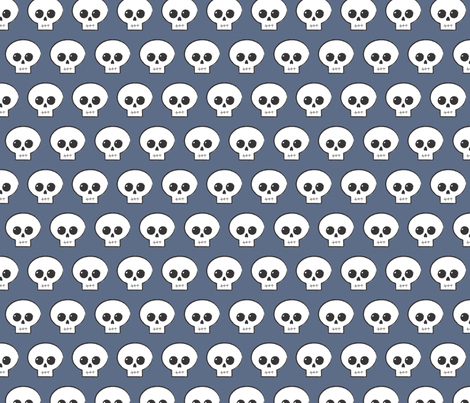 Slate Blue Skully fabric by mickey_guido on Spoonflower - custom fabric