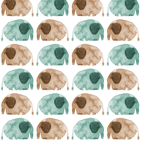 elephants fabric by ma0 on Spoonflower - custom fabric