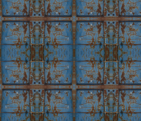 Shipping Container in Front of the Louvre, 5 fabric by susaninparis on Spoonflower - custom fabric