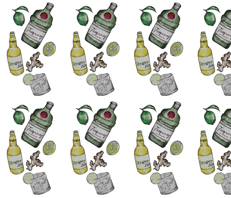 Gin&Ginger fabric by trizzuto on Spoonflower - custom fabric