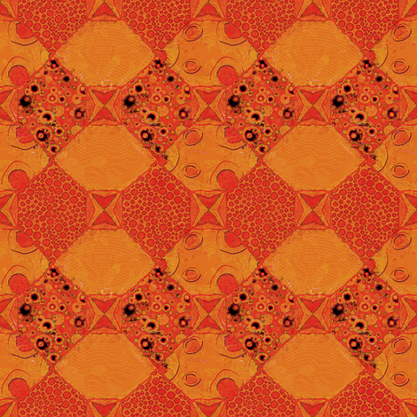 Sunny Side Up: Harlequin Fancies fabric by tallulahdahling on Spoonflower - custom fabric