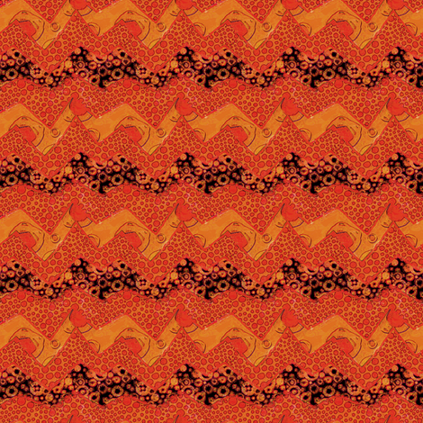 Sunny Side Up: ZigZag fabric by tallulahdahling on Spoonflower - custom fabric