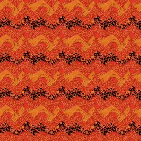 Sunny Side Up: ZigZag fabric by tallulahdahling on Spoonflower - custom fabric