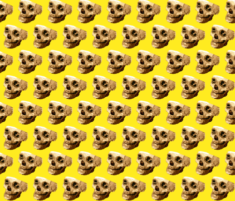 Happy Skull fabric by robin_rice on Spoonflower - custom fabric