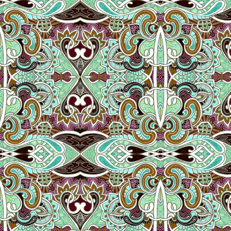 Chocolate and Mint Fantasy fabric by edsel2084 on Spoonflower - custom fabric