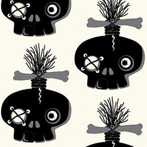 zombie skull / ink blot