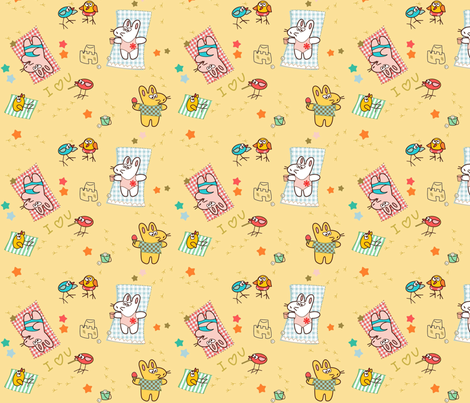 Kato's beach fabric by kato_kato on Spoonflower - custom fabric