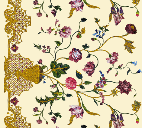 Rococo skirt embroideries, c. 1740-1745  fabric by bonnie_phantasm on Spoonflower - custom fabric