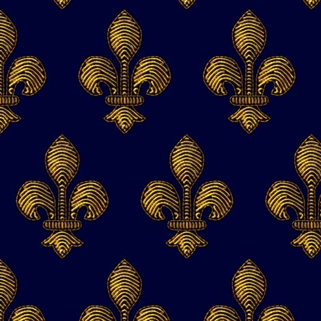 Rrfleurdelisdesign1-gold_d-blue_shop_preview
