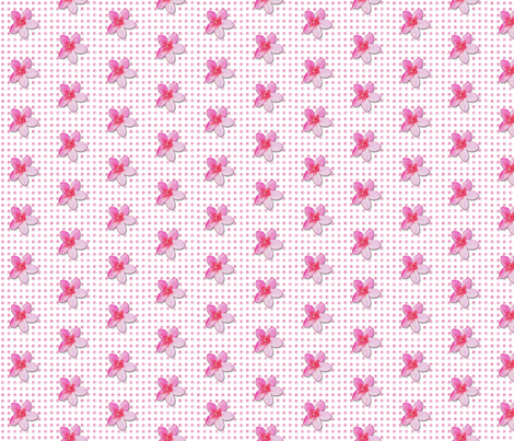 plumeria-pattern_ fabric by koalalady on Spoonflower - custom fabric