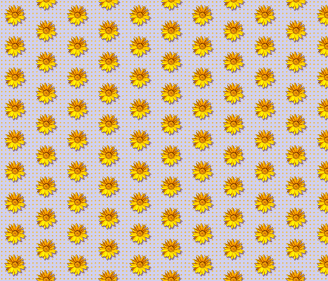 sunflower2-pattern_ fabric by koalalady on Spoonflower - custom fabric