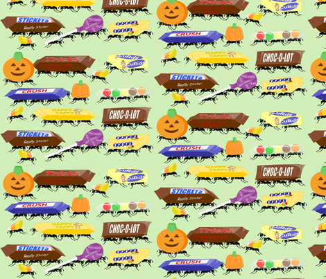 creepy_crawly_candy fabric by roxiespeople on Spoonflower - custom fabric