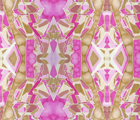 Art Deco cello quartet in Fuchsia fabric by walkwithmagistudio on Spoonflower - custom fabric