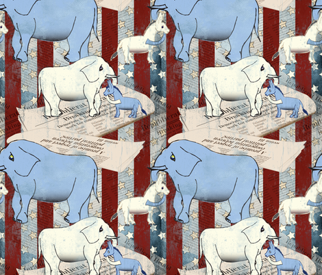 In Political News fabric by theturtletriplet on Spoonflower - custom fabric