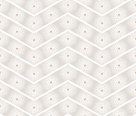 Wake Up Call - White Flower Chevron, White fabric by ttoz on Spoonflower - custom fabric