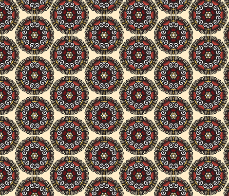 Red Mandala fabric by melhales on Spoonflower - custom fabric