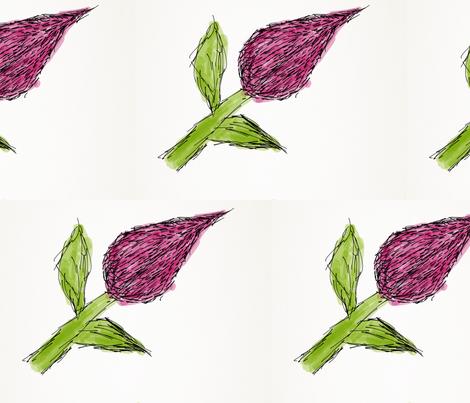 Hairy Rose fabric by daisyteacher on Spoonflower - custom fabric