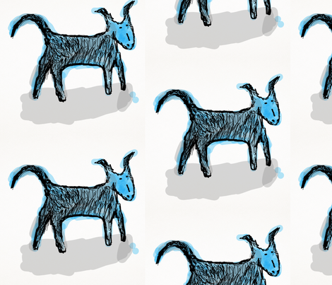 Blue Dog fabric by daisyteacher on Spoonflower - custom fabric