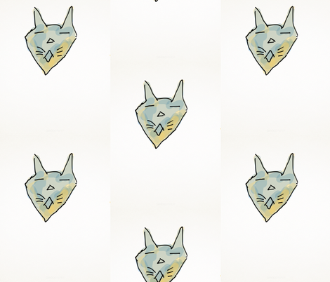 Cool  Cat fabric by daisyteacher on Spoonflower - custom fabric