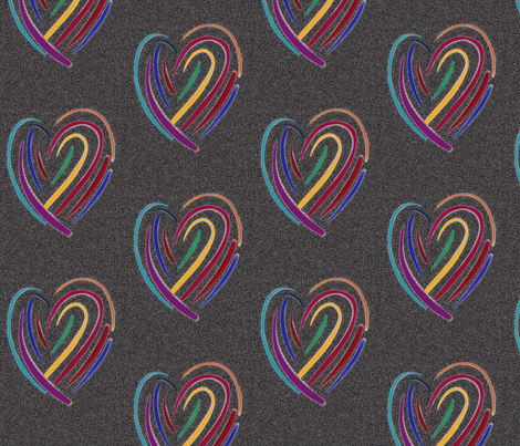 it's only love black fabric by daisyteacher on Spoonflower - custom fabric