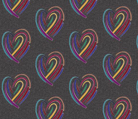it's only love black fabric by daisyteacher on Spoonflower - custom fabric