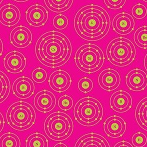 Periodic Shells (Hot Pink and Green Ditsy)