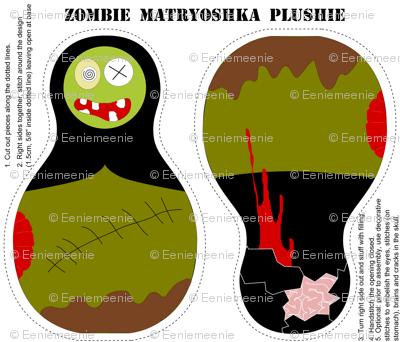 Zombie Matryoshka Plushie