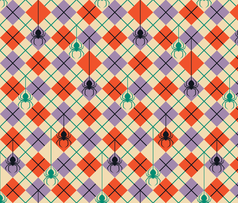 Bit By a Preppy Spider fabric by shala on Spoonflower - custom fabric
