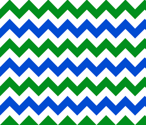 blue green white chevron fabric by mojiarts on Spoonflower - custom fabric