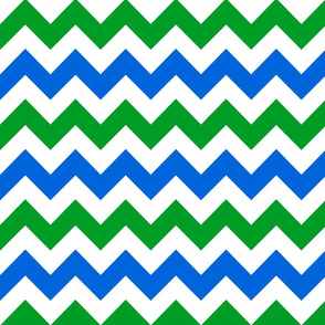 blue green white chevron