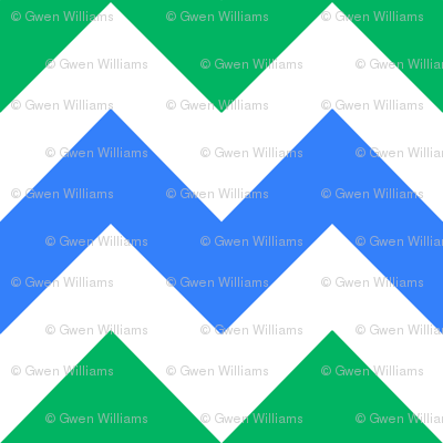 blue green white chevron 2