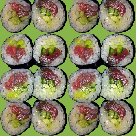 Yummy Sushi! fabric by peacoquettedesigns on Spoonflower - custom fabric